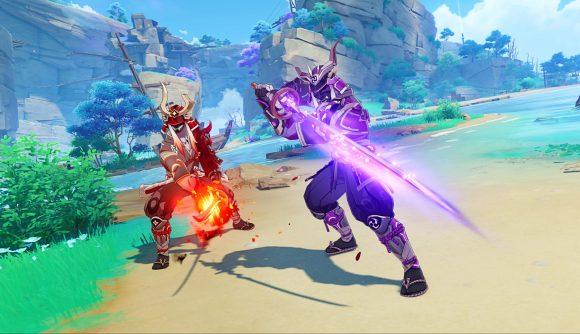 Two Genshin Impact enemies