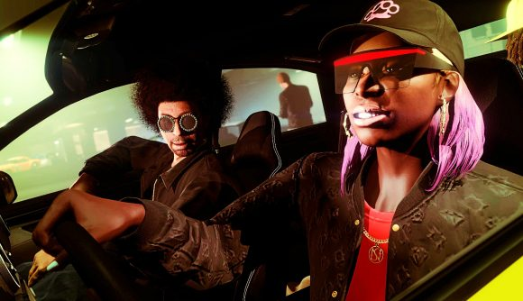 Two GTA Online players in the Los Santos Tuners update