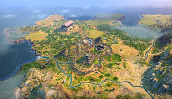 A city in strategy game humankind