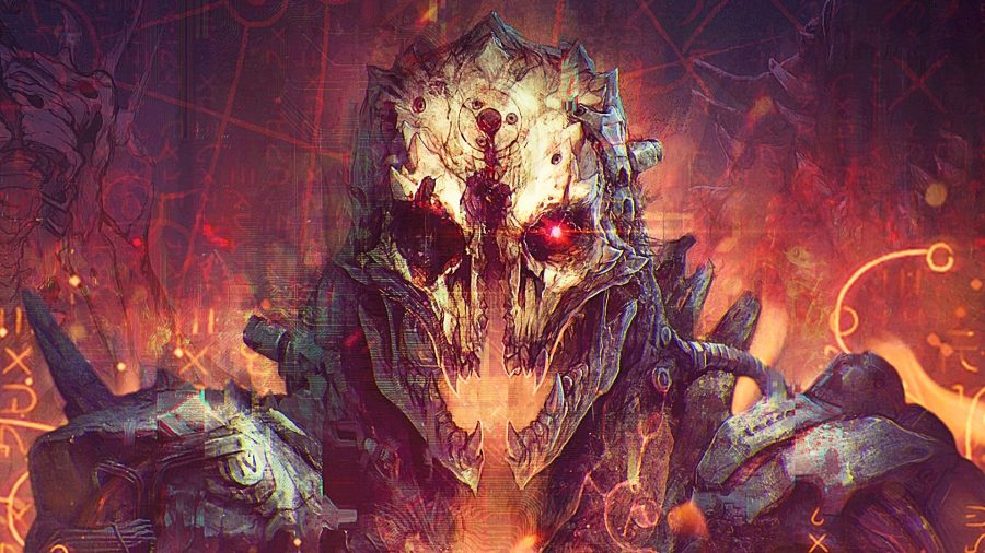 Demon artwork from Doom strategy game Jupiter Hell