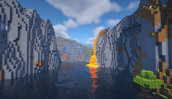 An example of the new rivers you might find in Minecraft Experimental Snapshot 4