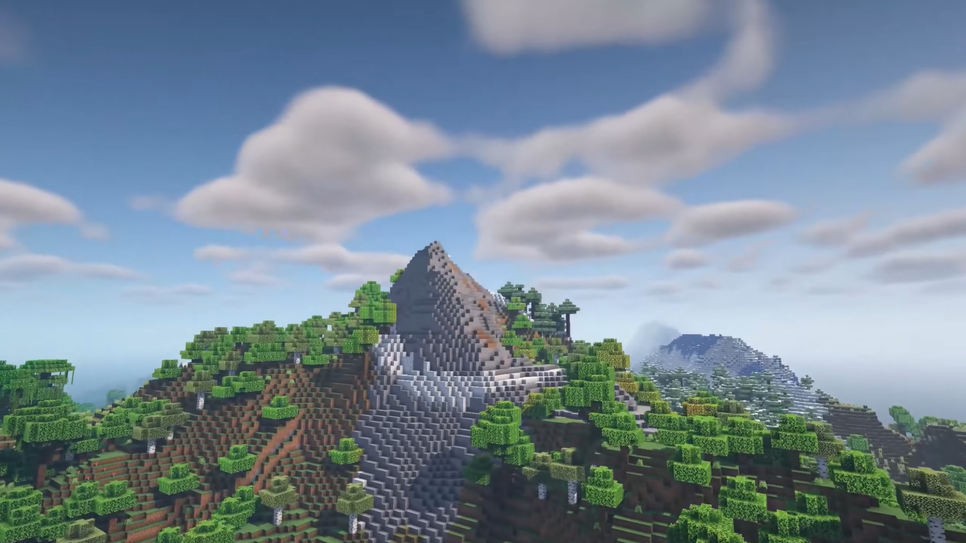 Minecraft is getting better mountains