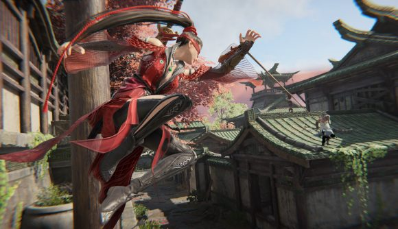 Some impressive parkour combat in Naraka: Bladepoint - the release time for which is coming up soon
