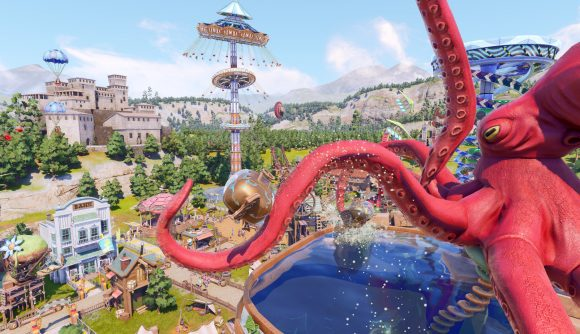 The Crazy Kraken takes everyone for a ride in Park Beyond