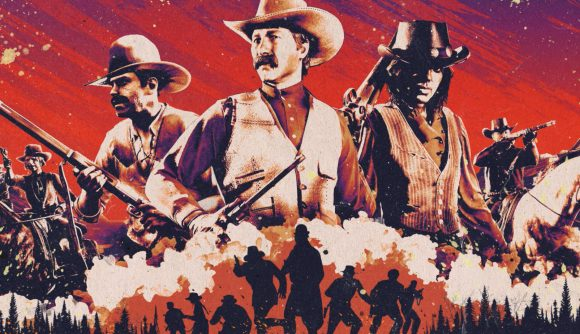 Key art for Red Dead Online's new Call to Arms survival mode