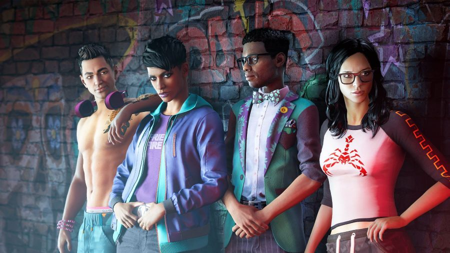 The fresh cast of the Saints Row soft reboot
