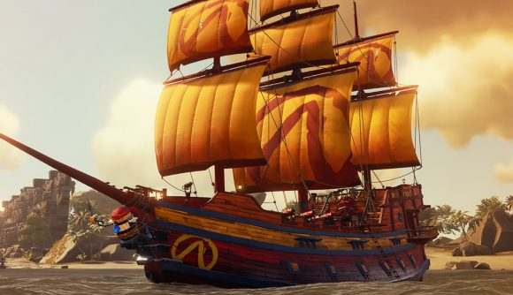 The new Borderlands-themed ship set in Sea of Thieves