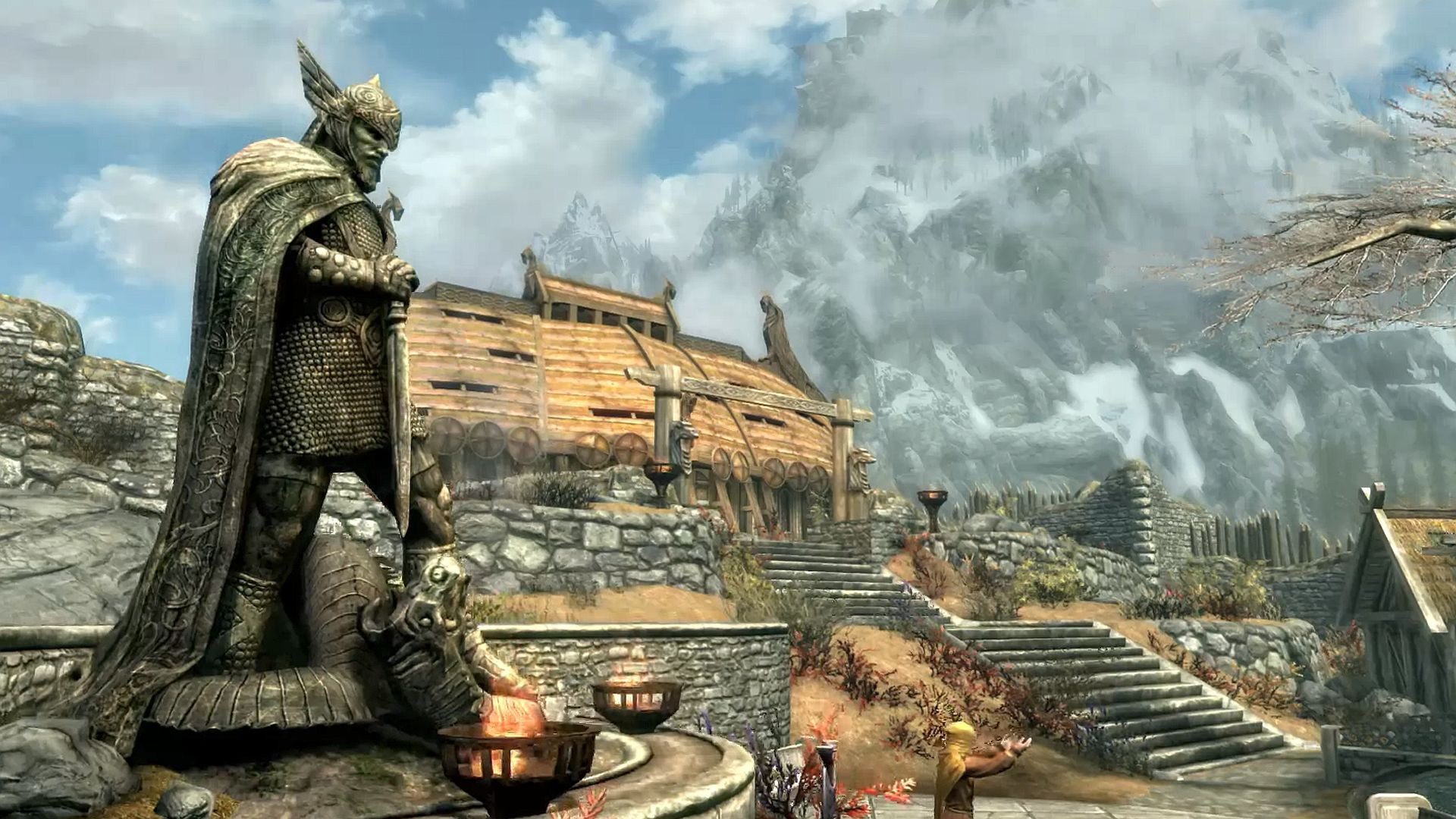 A Skyrim fan has recreated Whiterun in Minecraft and it's spot on
