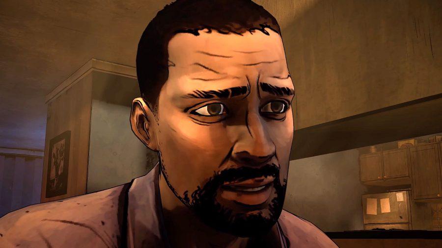 Lee Everett talking to Clem in Telltalle's The Walking Dead game