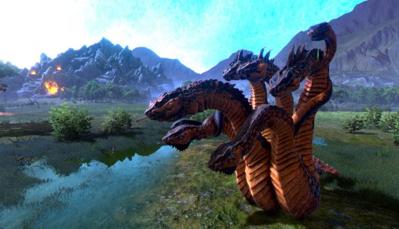 The hydra on the campaign map in total war saga troy