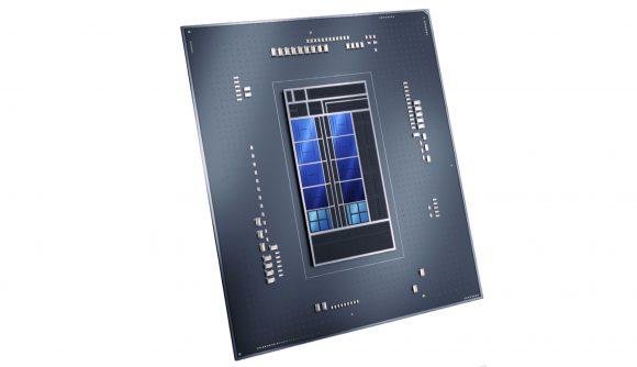 A render of an Intel Alder Lake 12th generation gaming CPU