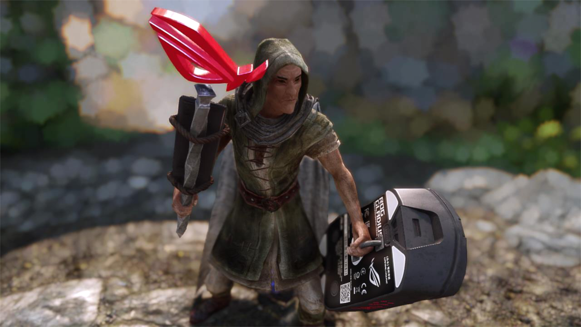 Skyrim mod arms the Dragonborn with an ROG gaming keyboard and mouse