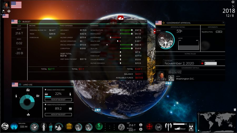 SuperPower 3's stats screen