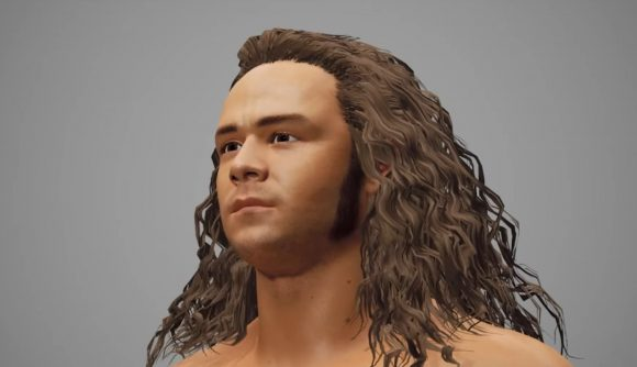 An early render of Jungle Boy in the AEW console game