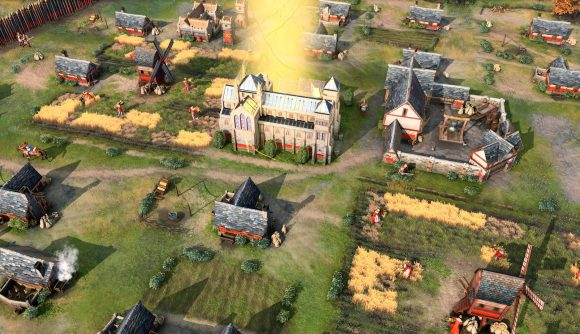 A shot of Age of Empires 4 battle ahead of the streatgey game's technical stress test