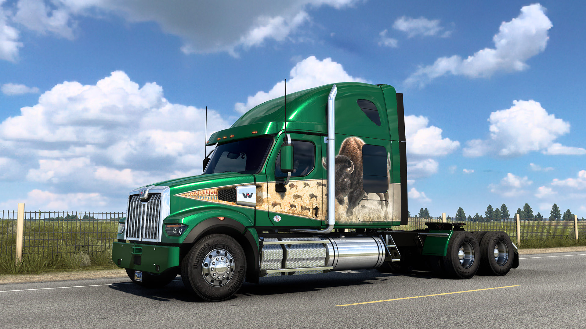 Get a bison truck for playing American Truck Simulator's Wyoming DLC at launch