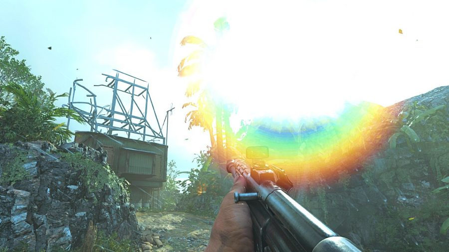 Lens flare in Call of Duty: Vanguard is pretty intense