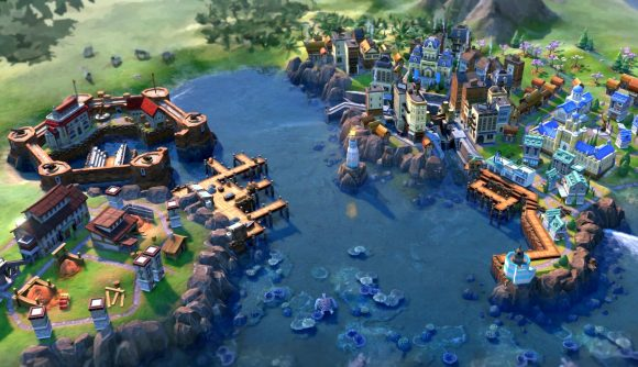 Civilization 6 mod More Maritim: Seaside Sectors' new districts and buildings in the 4X game