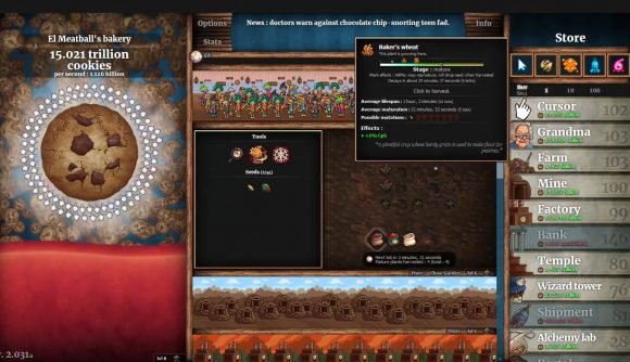 Choosing upgrades in a high-level game of Cookie Clicker