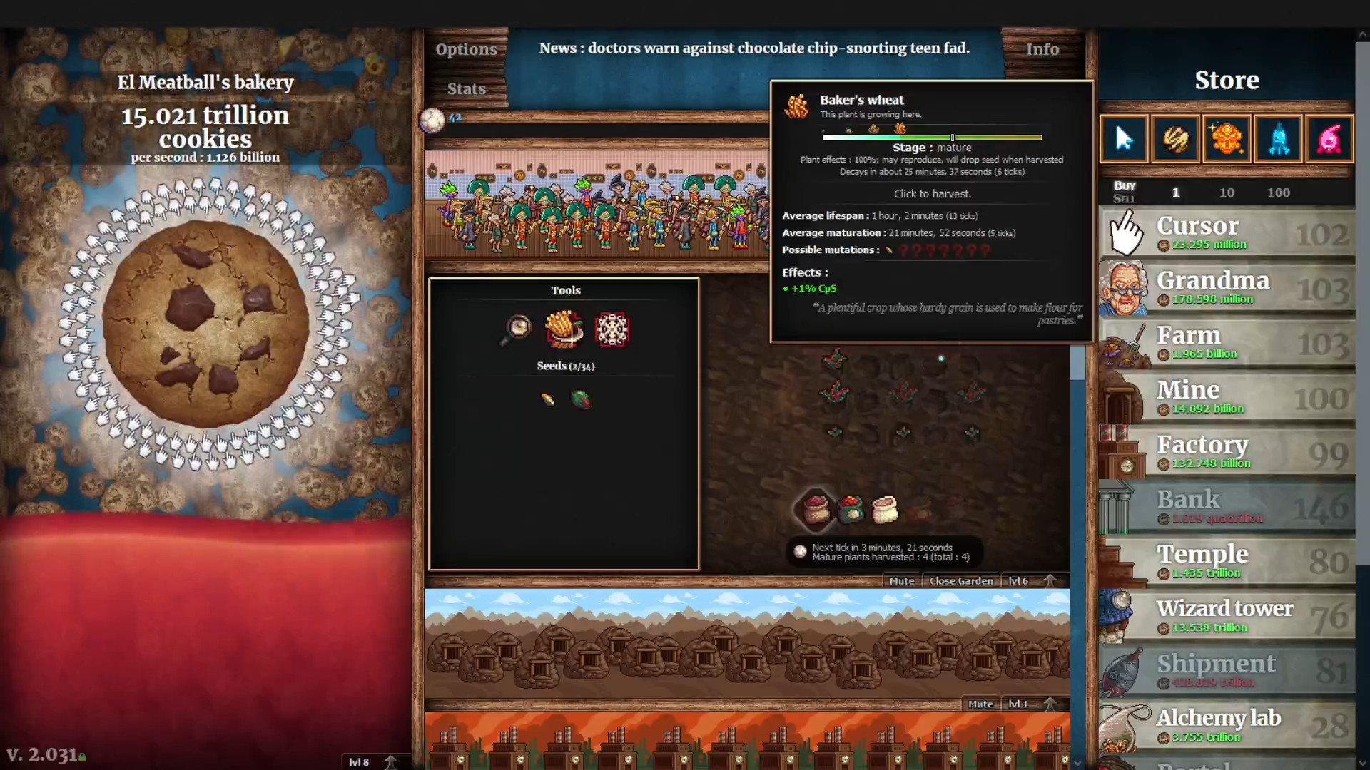 Cookie Clicker is currently ruining the lives of over 30,000 people on Steam