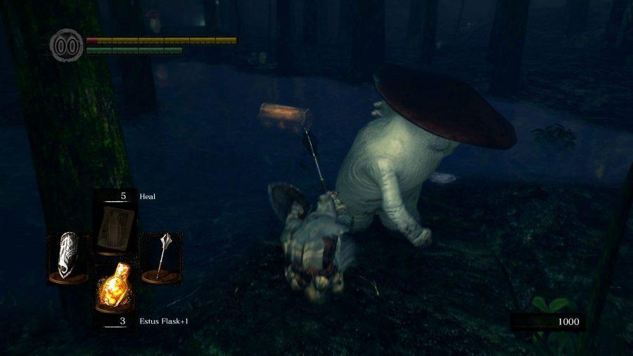 Dark Souls' mushroom lad throwing a right hook