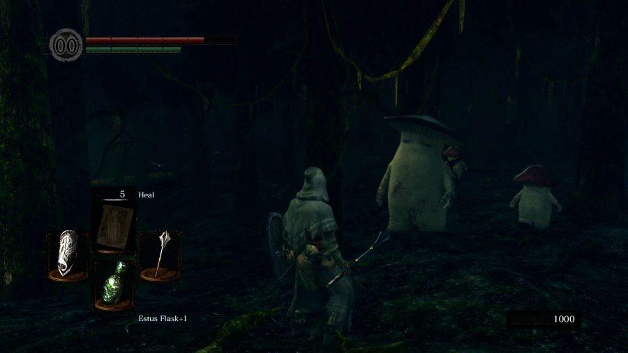 A mushroom family in Dark Souls