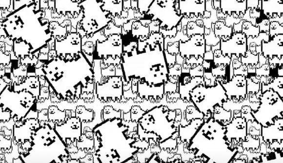 A ton of pixel-art dogs in Undertale dev's Deltarune