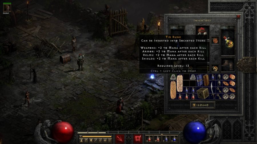 Two of the runes can be combined to make one of the Diablo 2 Resurrected runewords when put into a socketed item.