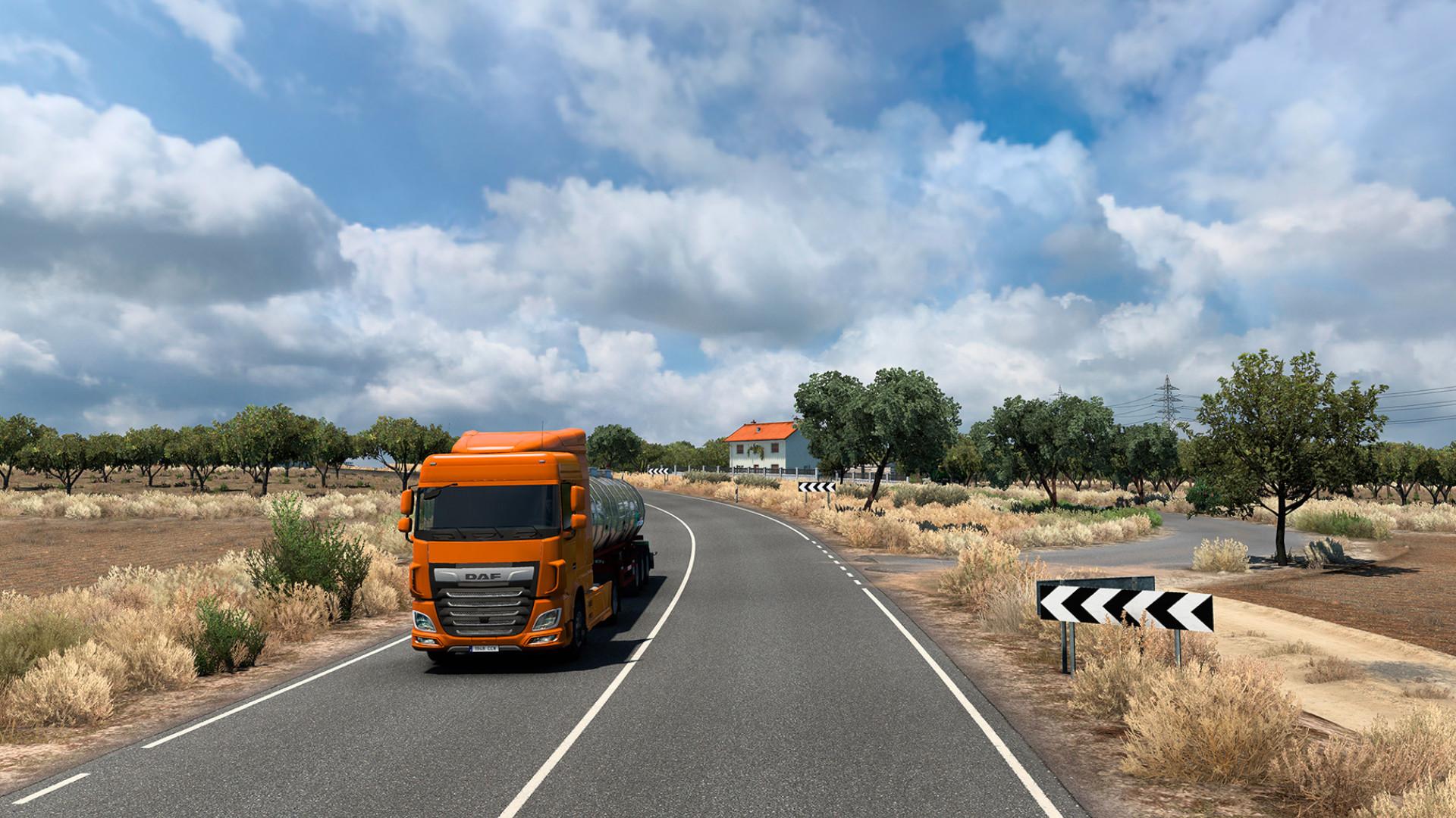 Iberia gets a free update with more roads (in Euro Truck Simulator 2)