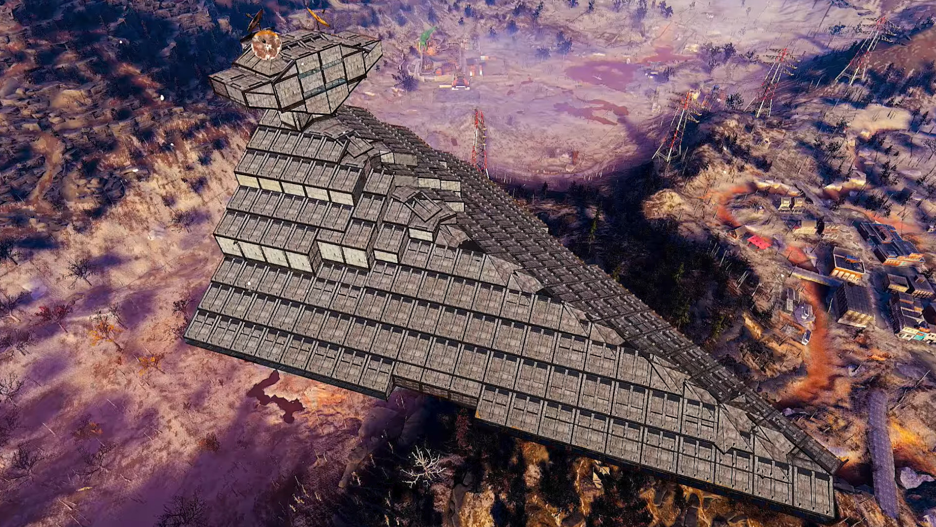 With this massive Star Destroyer build, Fallout 76 might be the best Star Wars game