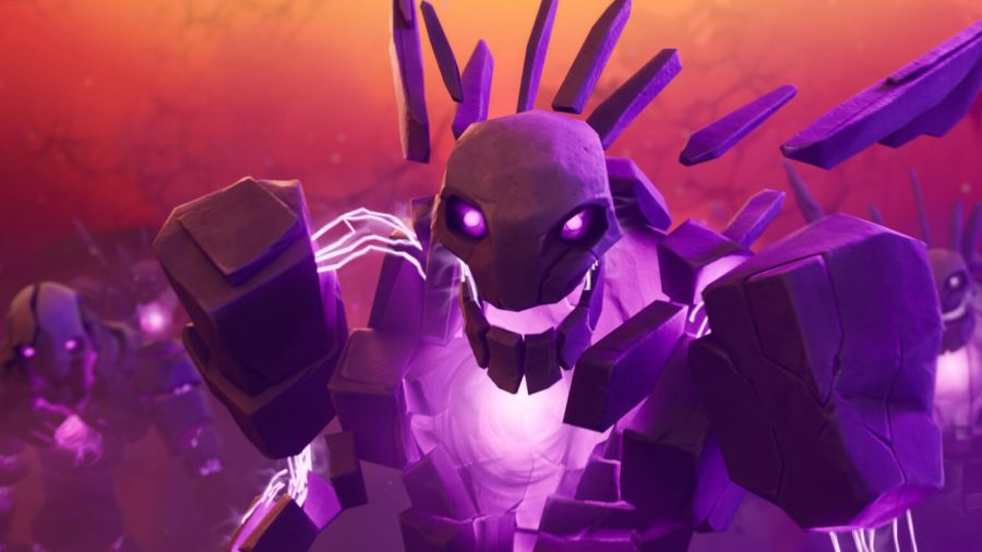 A fiend from The Sideways in Fortnite grinning
