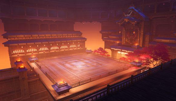 The setting of Genshin Impact's Hyakunin tournament