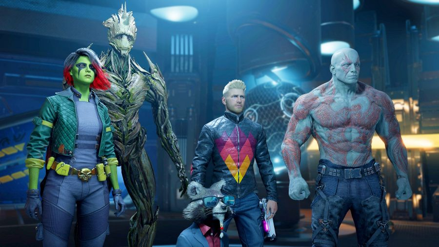 The cast of Square Enix's Marvel's Guardians of the Galaxy game