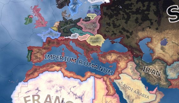 The formable Roman Empire nation in Hearts of Iron 4