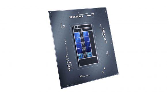A 3D render of Intel's upcoming Intel i9 12900K CPU
