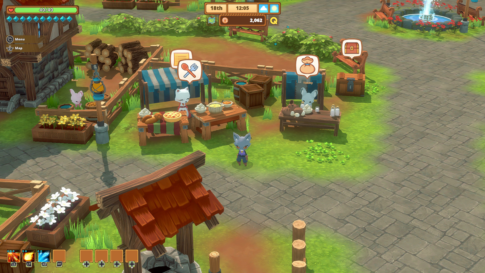 Kitaria Fables is Stardew Valley with playable cats and more swords, and it's out now