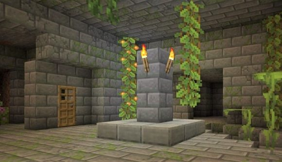 A cave in Minecraft snapshot 21W38A