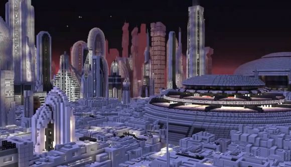 Star Wars planet Coruscant recreated as a Minecraft map