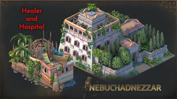 A shot of Nebuchadnezzar's healer buildings in the 1.2 update