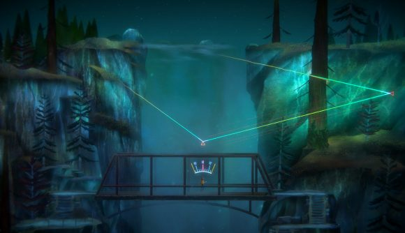 Dialing in a mysterious signal on a bridge in Oxenfree 2