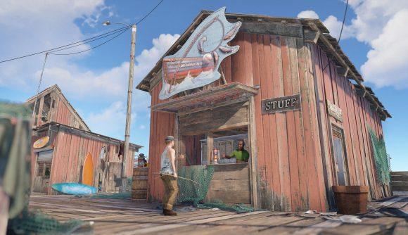 A Rust fishing shop shack
