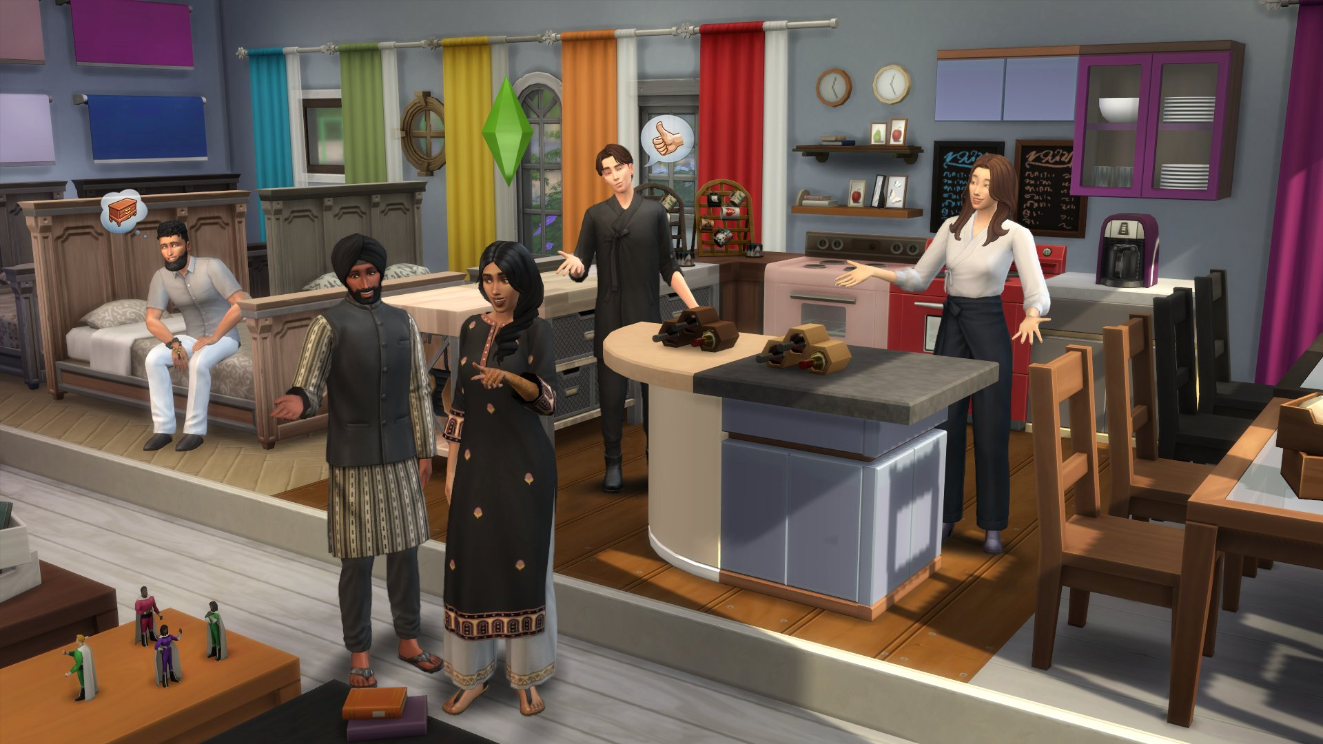 The Sims 4 gets over 1,000 new swatches in a free update