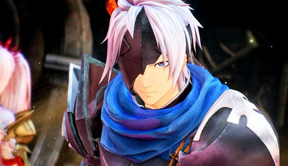 One of Tale of Arise's main characters stares at the screen