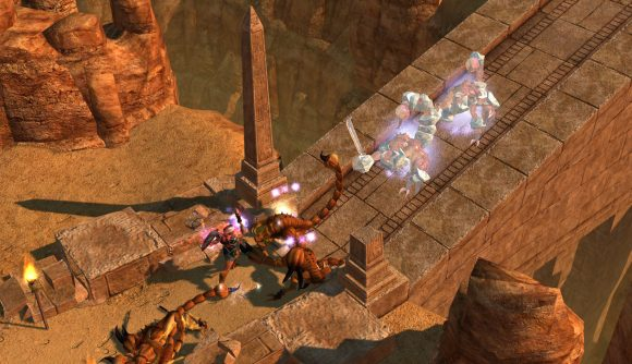 Fighting scorpions in Titan Quest: Anniversary Edition