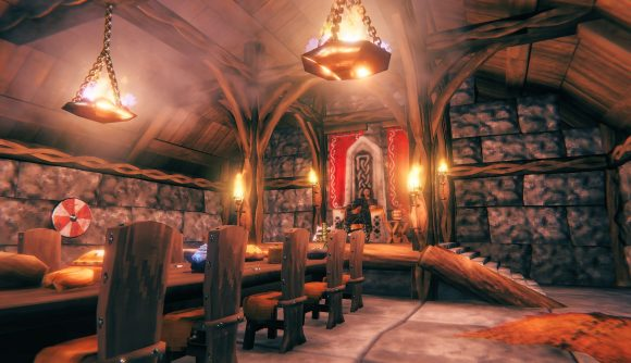 A cosy new house build in Valheim's Hearth and Home update