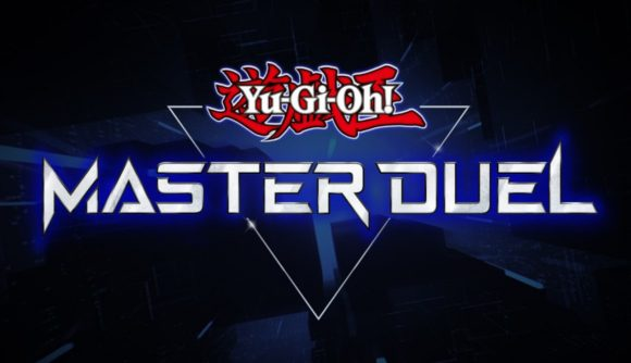 The logo for Yu-Gi-Oh: Master Duel