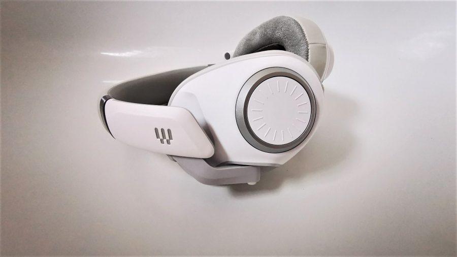 EPOS H6Pro white headset on white backdrop