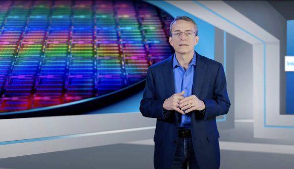 Intel CEO Pat Gelsinger presenting at Intel Unleashed 2021