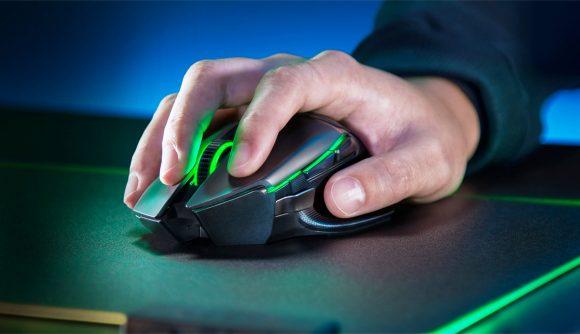 The Razer Basilisk gaming mouse.