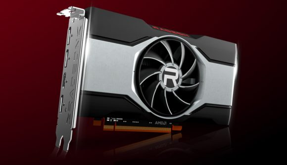 A 3D render of AMD's Radeon RX 6600 graphics card